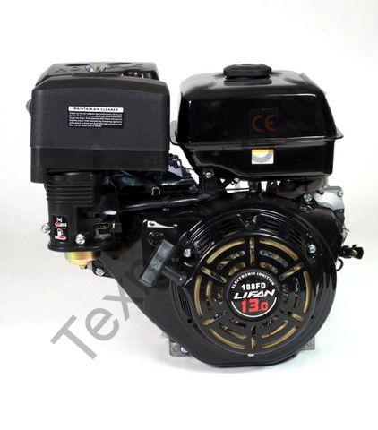 Двигатель Lifan 188F D25 (13 л. с.) с катушкой освещения 3Ампер (36Вт)