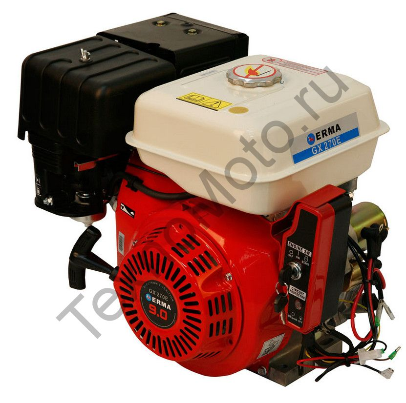 Двигатель Erma Power GX270E D20(9 л. с.) электростартер, аналог Honda GX270